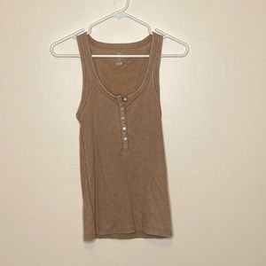 Tops - Beige tank top